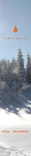 Das Hotel und Restaurant Tannenhaus befindet sich mitten im Skigebiet der Skiwelt Schöneck, direkt an der Kammloipe und bietet alle Möglichkeiten für aktive Erholung: alpines Skifahren, Snowboard und Wandertouren in verschneiten vogtländischen Wäldern.